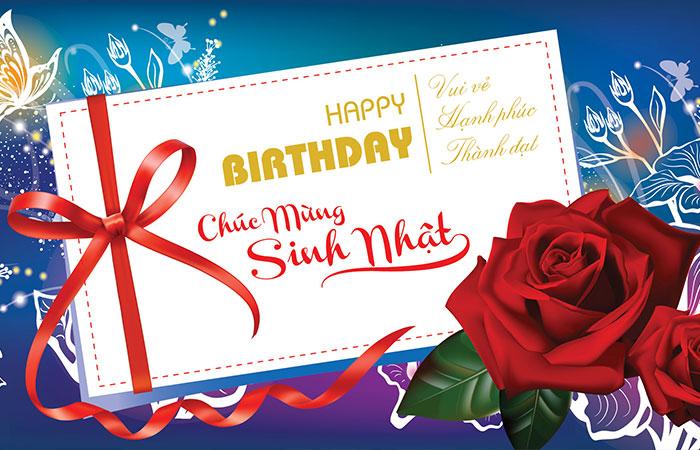Thiết kế bưu ảnh dùng để tặng dịp sinh nhật