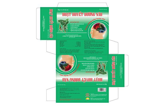 Thiết kế hộp giấy đựng thuốc