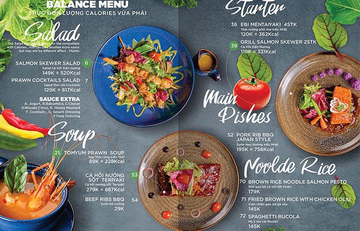 Thiết kế menu đẹp sẽ giúp khách hàng dễ dàng lựa chọn món ăn