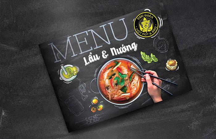 Thiết kế menu đẹp sẽ làm nên phong cách riêng cho nhà hàng
