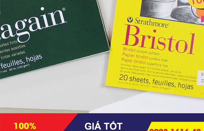 Giấy bristol có 2 loại mặt mịn và mặt nhám